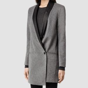 ALLSAINTS Aiva Savona Asymmetrical Blazer Coat